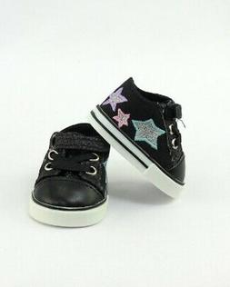"Doll Clothes AG 18"" Sneakers Black Super Star Made To Fit Am"