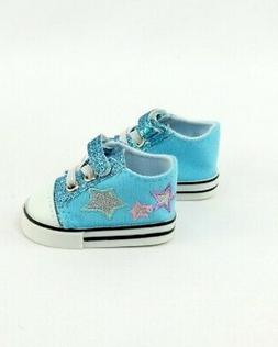 "Doll Clothes AG 18"" Sneakers Teal Super Star Made To Fit Ame"