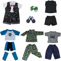 DOLL CLOTHES AND SHOES BOY 18 IN. DOLL 5 OUTFITS BY ZITA ELE