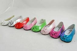 Doll Clothes Ballet Style Shoes with Bow fit 18 Inch America
