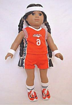 DOLL CLOTHES -  BASKETBALL UNIFORM - fits  AMERICAN GIRL DOL