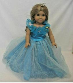 DOLL CLOTHES - CINDERELLA DRESS - FITS  AMERICAN GIRL DOLL