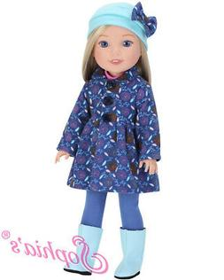 """Doll Clothes Coat, Boots, Top & Leggings For 14.5"""" Wellie Wi"""