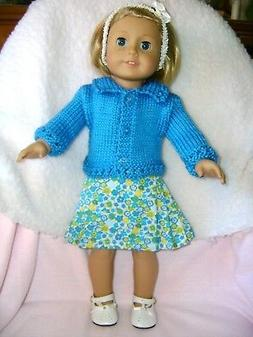 Doll clothes /HANDMADE/CUTE Skirt/Sweater Set /Fits American