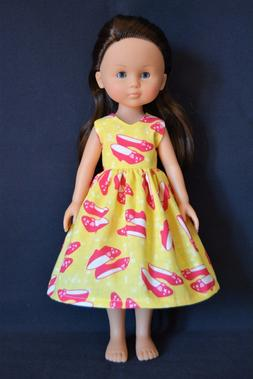 """Handmade Doll Clothes Dress fits 13"""" Corolle Les Cheries Dol"""
