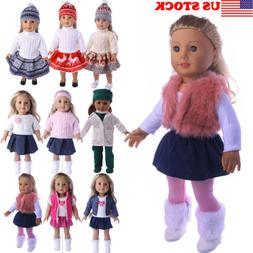Doll Clothes Dress Outfits Pajames For 18 inch American Girl