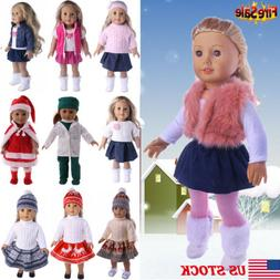 Handmade Doll Clothes Dress Suit Skirt Outfit Accessories Fo