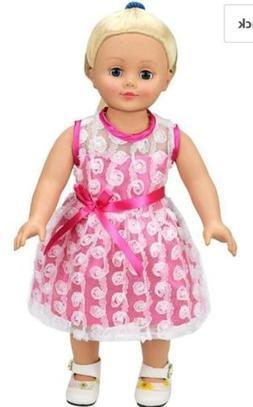 AOFUL Doll Clothes Dress, Pink Pretty Summer Dress Fits Doll