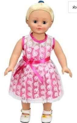 AOFUL Doll Clothes Dress, Pink Pretty Summer Dress Fits Doll