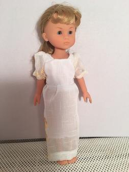 "Doll CLothes Fit 13"" Corolle Les Cheries Regency Dress White"