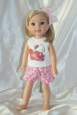 Doll Clothes fits 14inch American Girl Wellie Wishers Dress