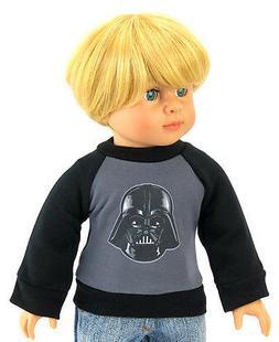"Doll Clothes fits 18"" American Girl Boy T-Shirt Darth Vader"