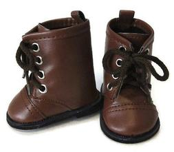 """Doll Clothes fits 18"""" American Girl Brown Work Boots Kirsten"""