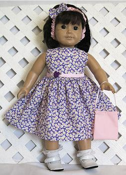 "HANDMADE Doll Clothes Fits 18"" American Girl Doll PINK WHITE"