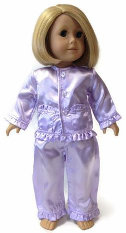 Doll Clothes fits 18 inch American Girl-Lavender Satin 2 pie