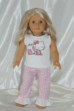 Doll Clothes fits 18 inch American Girl Dress Pajamas Hello