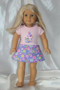 Doll Clothes fits 18inch American Girl Dress Bunny Easter