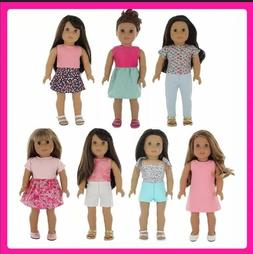 "Doll Clothes Fits American Girl & Other 18"" Dolls 7 Outfit"