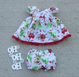 "Handmade Doll Clothes for 11"" - 13"" Baby Dolls - ""Santa's He"
