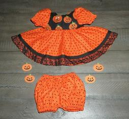 """Handmade Doll Clothes for 14"""" - 16"""" Baby Dolls - """"Pumpkin Ti"""