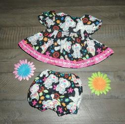 """Handmade Doll Clothes for 16"""" - 18"""" Baby Dolls - """"Cute Skele"""