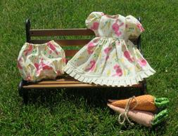"Handmade Doll Clothes for 16"" - 18"" Baby Dolls - ""Bunny Hop"""