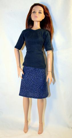 Handmade Doll Clothes For 16 Inch Female Fashion Dolls Blue