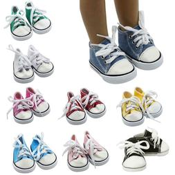 Canvas Shoes American Doll Fashion Sneakers 18 Inch Doll Sho