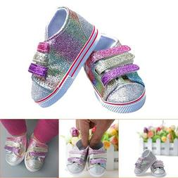 Doll Clothes For 18 Inch Dolls Girl Canvas Tennis Shoes Snea