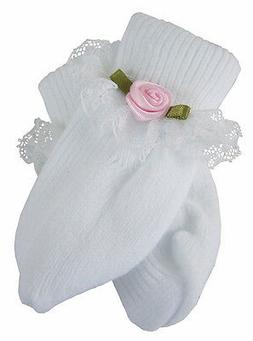 Doll Clothes for Bitty Baby Lace Trim Socks w/ Pink Rosebuds