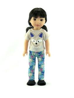 """Doll Clothes Fox Pajamas PJs For 14.5"""" Wellie Wishers Americ"""