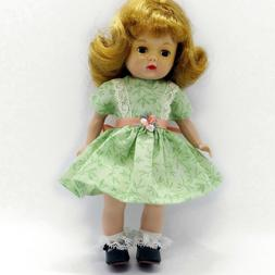 """Doll Clothes Green Print Dress for 8"""" Ginny Muffie Alexander"""