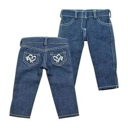 """DOLL CLOTHES - JEANS - FITS THE  AMERICAN GIRL AND MOST 18"""""""