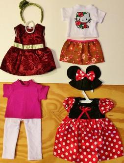 """Doll Clothes LOT Fits 18"""" American Girl 4 Outfits #33 C  Min"""