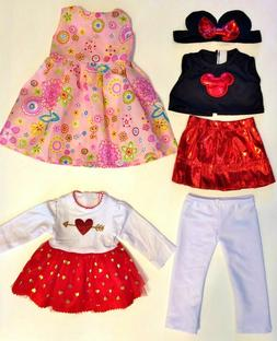 """Doll Clothes LOT Fits 18"""" American Girl Minnie Mouse, Dress,"""
