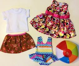 "Doll Clothes LOT Fits 18"" American Girl 3 Outfits Dress Top"