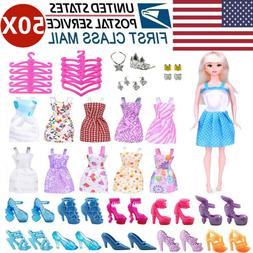 Doll Clothes Lot Party Gown Outfits Accessories Barbie Girl