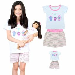 8482f83513b9 Doll Clothes Matching Set Outfit Pink Butterfly Closet Fits