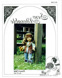 "Sew Adorable Doll Clothes Pattern, fits 18"" American Girl, F"