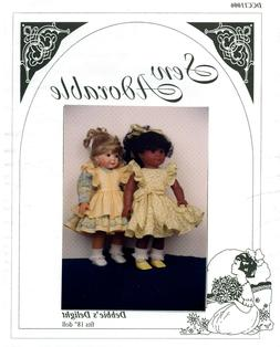 "Sew Adorable Doll Clothes Pattern, fits 18"" American Girl, D"