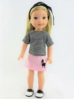 """Doll Clothes Poodle Skirt Set & Saddle Shoes Fits 14.5"""" Well"""