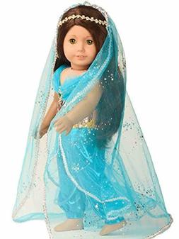 Sweet Dolly Doll Clothes Princess Jasmine Costume For 18 Inc