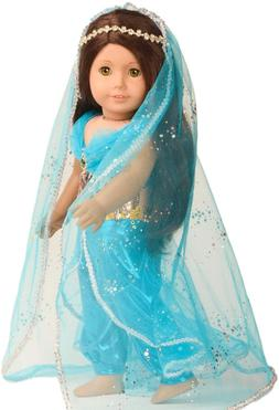 Doll Clothes Princess Jasmine Costume for 18 inch American G