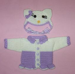 American Girl Doll Clothes Purple Hello Kitty Sweater Hat Fi