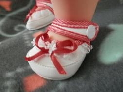 Doll clothes shoes #80 2 baby shoes fits American girl Bitty
