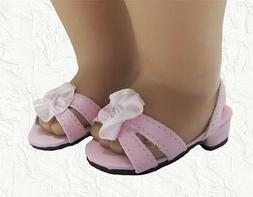 Doll Clothes Shoes Kitten Heel with Sparkle Pink Fit 18 inch