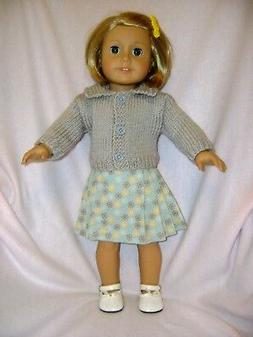 Doll clothes/ HANDMADE /Skirt/Sweater Set /Fits American Gir