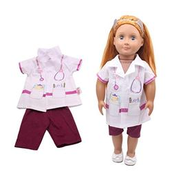 18 Inch Doll Clothes |Cute Nurse Uniform Set Tops and Trouse
