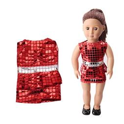 18 Inch Doll Clothes |Cute Sequins Pretty Summer Dress Fits