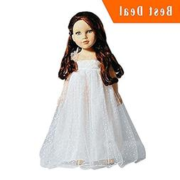 Doll Dress For 18 Inch American Dolls White Lace Skirt For 1